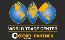 Mapa do World trade center no mundo parceiro da Oxford Group usa