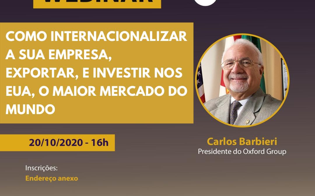 FIETO realiza seminário gratuito, em parceria com consultoria americana, sobre como exportar para os EUA